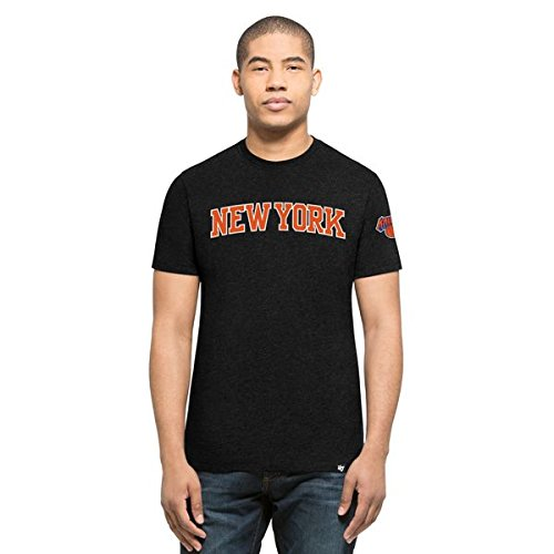 '47 Brand New York Knicks Script NBA Camiseta de Negro, negro