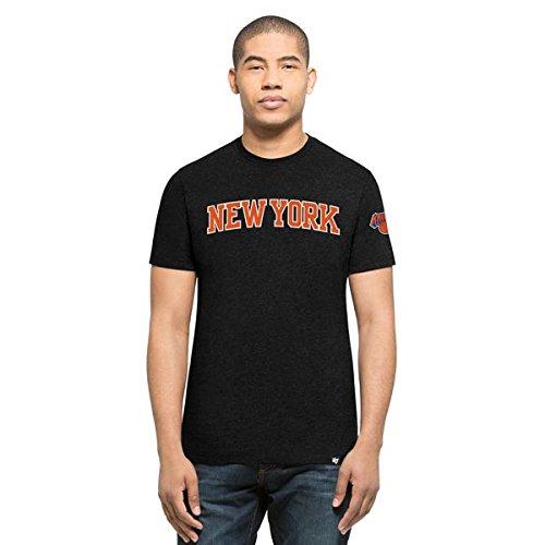 '47Brand New York Knicks Script NBA Camiseta de Negro, negro