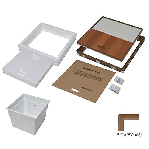 YPC 断熱樹脂枠床下点検口+深型収納庫(600型) セット 15mmフロア用/枠色ミディアム 直送 PT615D-M/PT60-E1