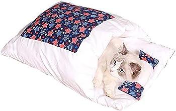 TAMRG lit pour Chat Panier Chat Sac de Couchage pour Chat avec Petit Oreiller Couchage et mobilier pour Chats 55*40cm (Style 4)