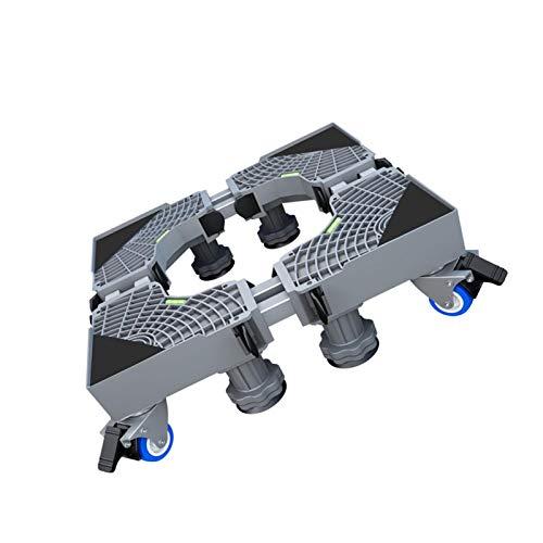 Support de réfrigérateur avec base mobile pour meubles multifonctionnels, socle à roulettes réglable, support de réfrigérateur avec 4 pieds solides, base mobile réglable pour sèche-linge, laize