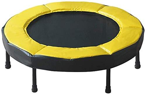 HZC Mini Opvouwbare Trampoline Volwassenen Kinderen 2 cm Dikke Gele Beschermende Randen Indoor en Outdoor Fitness Apparatuur Aerobic Trampoline Indoor trampolines