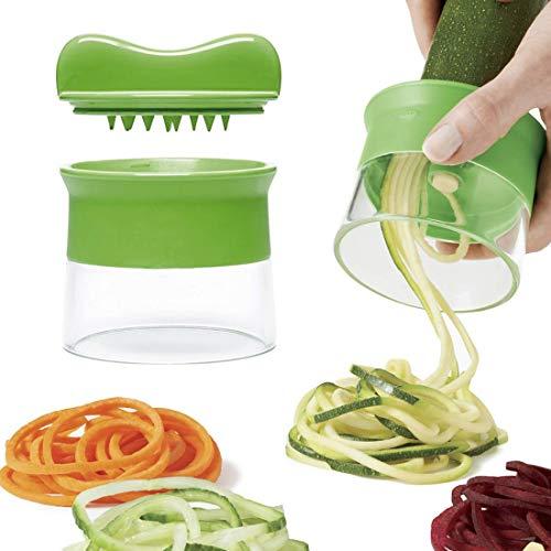 Vitorhytech Zucchini-Nudel-Spaghetti-Hersteller-Karotten-Gurken-Reibe-Spirale-Blatt-Schneider-Gemüse-Frucht-Spirale-Schneider-Salat-Werkzeuge