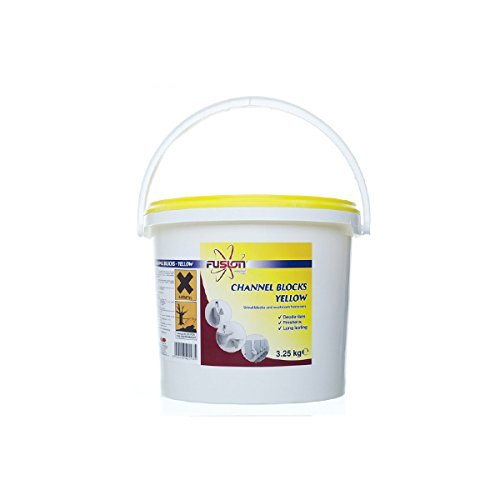 Fusion Channel Blocks Yellow - Urinal Blocks & Washroom Fresheners - 3.25kg