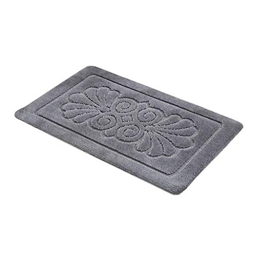 Purchase Kitchen Rug Bathroom Water-Absorbing Non-Slip footrest mat (Color : Gray, Size : 77115cm)