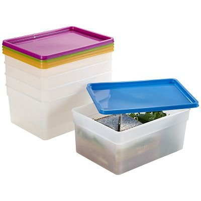 Lakeland Stapelbare Frischhaltedosen, 21 x 15 x 10 cm H, 2,5 Liter, 5er-Pack