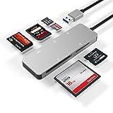 USB3.0 Kartenleser, Arkidyn 5-in-1 Aluminium USB 3.0 (5 Gps) Hochgeschwindigkeits TF / SD / MS / M2 / XD / CF Speicherkarten olt Combo Adapter, kompatibel mit Windows, Vista, Mac OS, Linux, Chrome OS