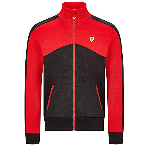 Scuderia Ferrari F1 Veste à capuche pour homme, Veste de survêtement noir/rouge., homme (XL) poitrine 112 -116 cm