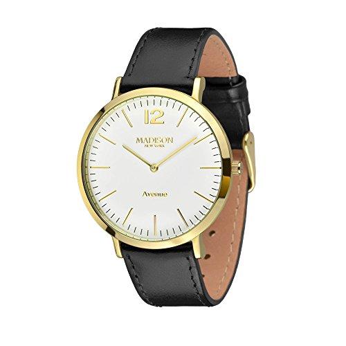 MADISON NEW YORK Damen Uhr Avenue Gold/Schwarz Small OneSize