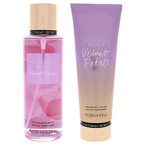 Victorias Secret Velvet Petals Kit For Women 2 Pc Kit 8.4 oz Fragrance Mist, 8 oz Body Lotion