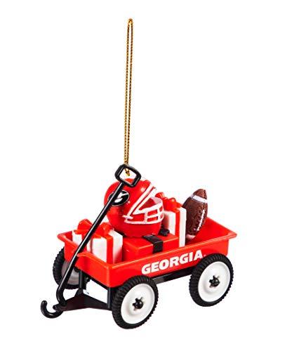 Team Sports America University of Georgia Team Wagon Ornament Christmas and Décor for Collegiate Fans