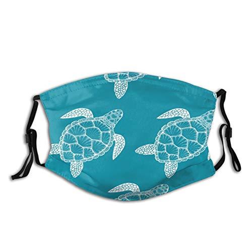 ZVEZVI Schildkrötenmuster Die Maske 5-lagiger Schutz, Gesichtsmaske für Erwachsene, waschbar für tägliche Aktivitäten, hat Zwei Filter