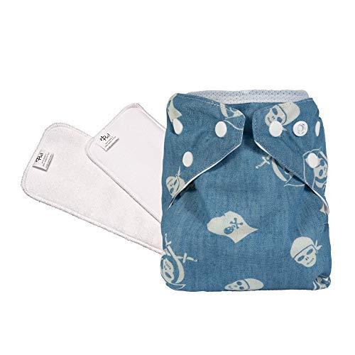 PSS! Pannolini lavabili ecologici POCKET ULTRA - Easy Kit da 1 cambio con inserto estraibile - 1 Cover Colorata e 2 Pannoli Assorbenti - Made in Italy