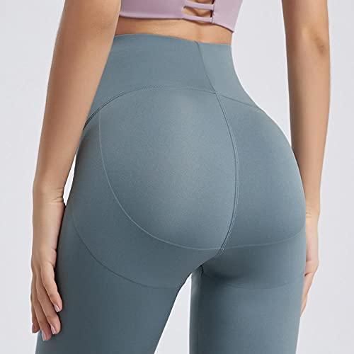 ArcherWlh Leggings Mujer,Yoga Sports Shorts High Cintura Hip Pantalones Pantalones Femeninos Fitness Fitness Cinco Pantalones-Azul Marea_SG