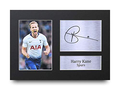 HWC Trading Harry Kane A4 Ungerahmt Signiert Gedruckt Autogramme Bild Druck-Fotoanzeige Geschenk Für Tottenham Hotspur Spurs Fußball Fans