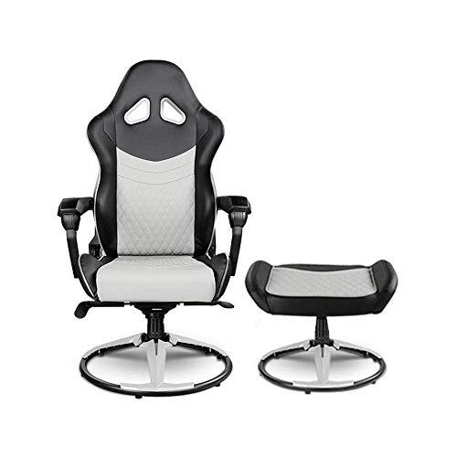 LILICEN LYJ Bürostuhl Ergonomie Lounge Chair Fußrasten Set Gaming Stuhl Reclining Klappstuhl Swivel Rotating Aufzug Stuhl