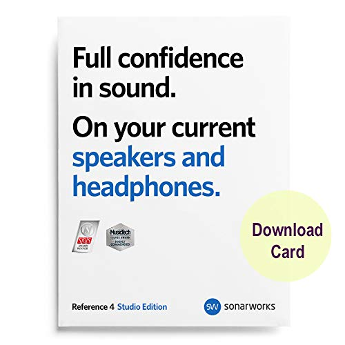 Sonarworks Reference 4 Studio (Download Card) – Calibration Software for Studio Monitors and Headphones - Software Only
