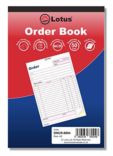 Lotus Rechnungs- / Quittungsbücher, Doppelpackung (2-teilig) / dreifach (3-teilig) Duplicate   Order Book-DNCR-8004