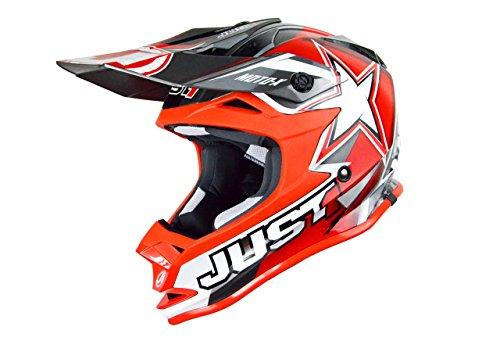 Just 1 Helmets - Casco Motocross J32, Rosso, XS