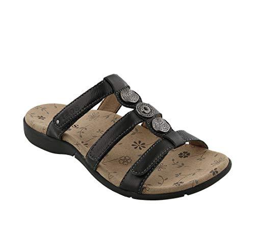 Taos Footwear Women's Prize 3 Black Sandal 10 M US