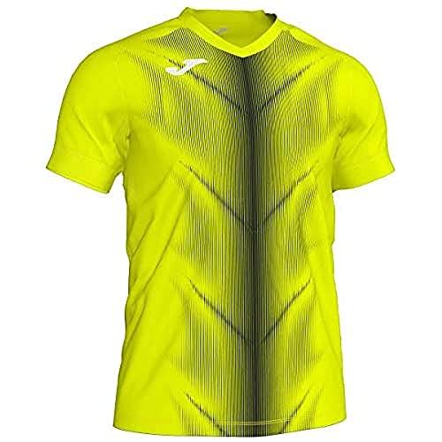 Joma Olimpia Camisetas, Hombre, amarilo Fluor/Negro, XL