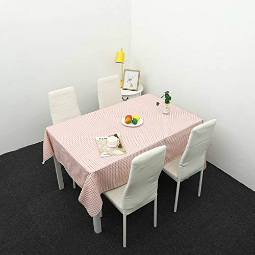 YOUYUANF tischdecke Garten tischdecke abwaschbarKarierte antike Tischdecke - Farbe und Größe optional - 100% Baumwolle140x180cm