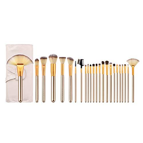 Chytaii. Pinceaux de Maquillage Professionnels Set de Brosse Maquillage Brosse Cosmétique Pinceau pour Poudre Fond de Teint Visage Fard à Paupières Lèvres Blush Sourcils 24pcs