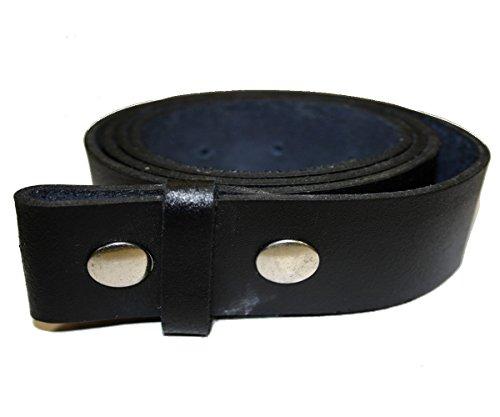 Ceinture Cuir Noir pour Boucles universelles (115 cm)