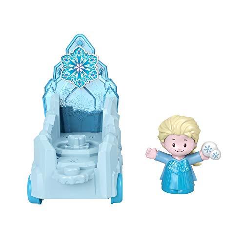 Fisher-Price GNR07 Frozen Disneys Prinzessinnen Little People Fahrzeug mit ELSA Figur