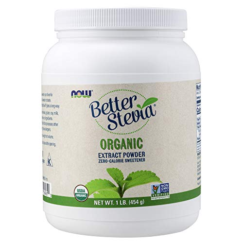 Now Foods Better Stevia Certified Organic Extract Powder 1 Lb (454 G) Powder