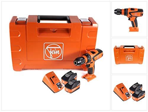 FEIN ASCM 18 QSW 71161264000 - Trapano avvitatore a batteria a 4 velocità, 18 V, 40 Nm, con 2 batterie ad alta potenza da 5,2 Ah e caricatore