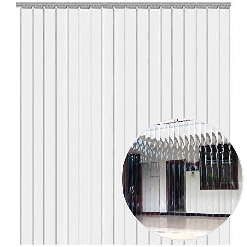 VEVOR Streifenvorhang PVC, Streifen Lamellenvorhang 2500 x 200 x 2 mm, Streifenvorhang Transparent, PVC Lamellenvorhang, für die Balkontür, Kellertür und Terrassentür, Kinderleichte Klebemontage