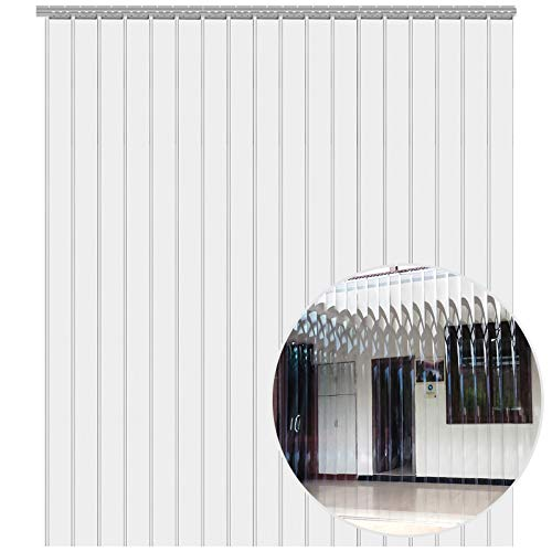 VEVOR Cortina Puerta PVC Transparente Impermeable, 2500x200x2 mm, Material Impermeable Transparente PVC, Cada Una 1,5x2,5 m, Cortina Puerta PVC, para Supermercados, Tiendas, Casas, Fábricas