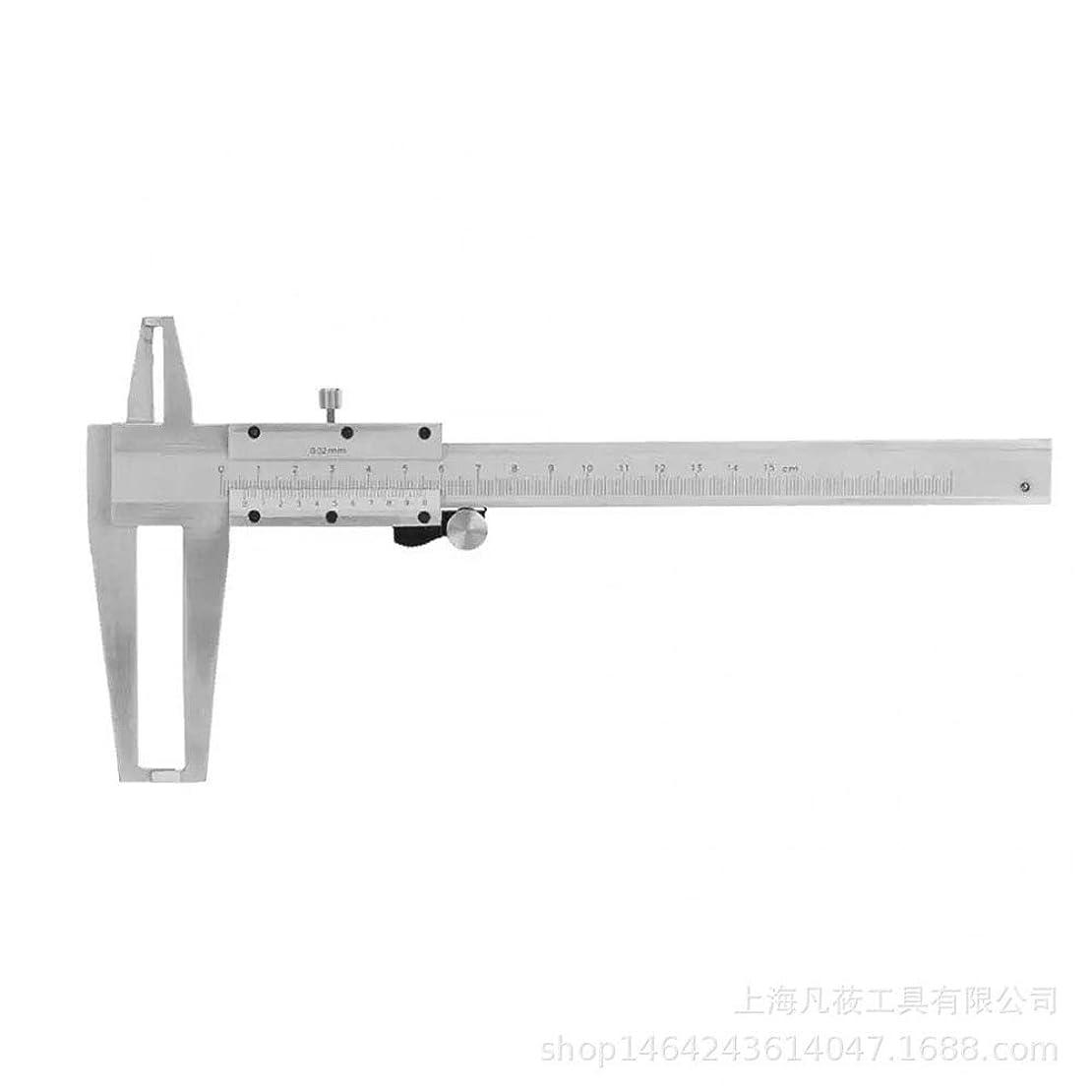 毒湿度ビルダーノギス 工業用グレードダブル内溝ノギス内部測定キャリパーインナー径 デジタルキャリパーLCD (色 : 銀, サイズ : 300mm)