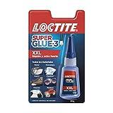 Loctite Super Glue - 3 XXL, pegamento universal triple resistencia, adhesivo para uso intensivo, pegamento instantáneo, transparente y extrafuerte, 1x20 g