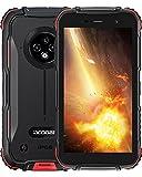 Telephone Portable Incassable, DOOGEE S35 Smartphone Incassable Débloqué 4G, 5 Pouces, 4350 mAh, 13MP+5MP Caméra, 2 Go+16 Go(SD 256Go), Android 10, IP68 Antichoc Étanche/Dual SIM/NFC/Face/GPS-Rouge