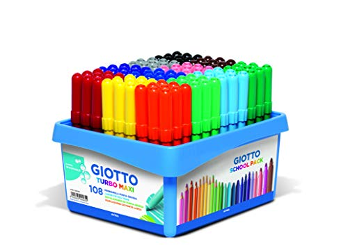 Giotto 5240 00 Fasermaler, Filzstifte, farbig Sortiert