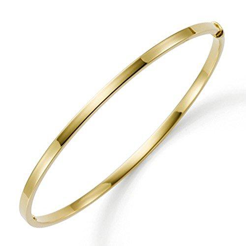 Armreif Armband Armschmuck aus 585 Gold Gelbgold 3mm breit flach Goldarmreif