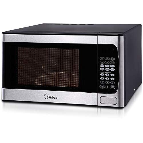 Midea 0.9-cu. ft. Digital Countertop Microwave in Stainless Steel