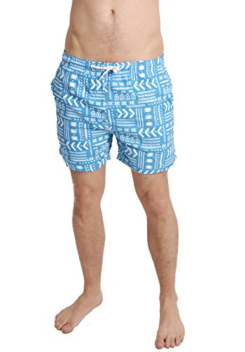 Herren Funky Aztec Print Sommer Schwimmen Shorts Brave Soul