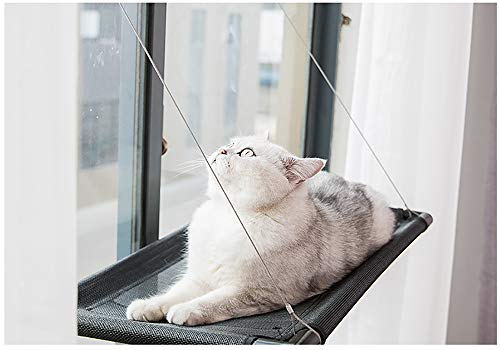 N / A (Send Cotton Pad) Hammock Pets Provide Your Cat with Warm Sunbathing, Washable and Strong Knots to Achieve Modern Simplicity