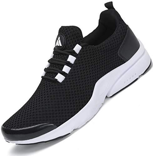 Mishansha Laufschuhe Damen Sportschuhe Dämpfung Turnschuhe Atmungsaktiv Leichte Freizeitschuhe Straßenlaufschuhe Running Fitness Sneaker Schwarz1 38 EU