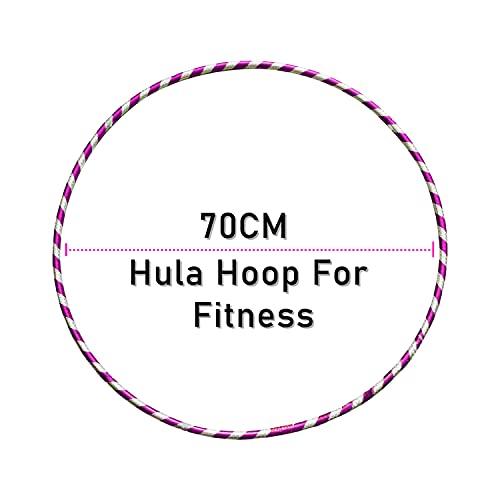 LUMOUS Hula Hoop de 70 cm para adultos y niños, juguete rosa para fitness, desmontable y tamaño ajustable, adecuado para gimnasia, baile, ejercicios divertidos, niñas, niños y mascotas