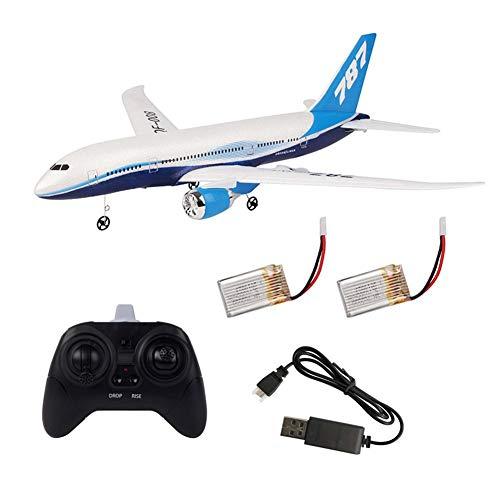 Winnerruby RC avión, Boeing 787 Modelo DIY EPP espuma RC dron 2,4 G 3 canales mando a distancia avión fijo para niños regalos