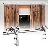 213cm/7FT kit de puerta corredera de acero inoxidable,Herrajes para puertas corredizas de acero...