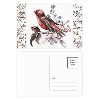 鳥の花の枝 公式ポストカードセットサンクスカード郵送側20個