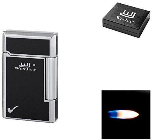 Winjet Premium Pfeiffen - Feuerzeug - Humidor - chrom glänzend - schwarz