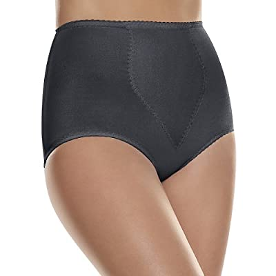 Hanes by Women's 2-Pack Light Control Tummy Panel Brief_Black_M