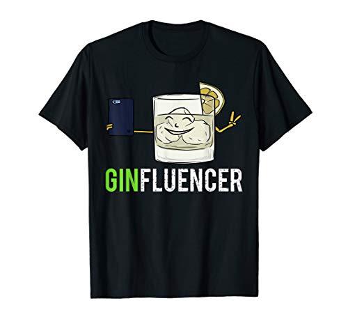 Ginfluencer Gin Cocktail Alkohol für Gin mit Tonic Lustiges T-Shirt