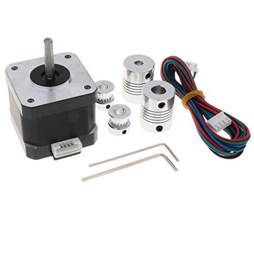 B Blesiya Motores de Impresora 3D, Motor Paso a Paso 42 Motor 1,8 Ángulo Paso a Paso 0,9 a Cuerpo de 2 Fases 4 Conductores con Cable para Impresora 3D Robot CNC